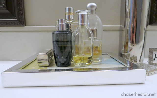 Turn a Frame In to a Perfume Tray via Chase the Star