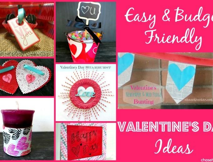 Easy and Budget Friendly Valentines Day Ideas #Decor #crafts #diy #handmade #budget #Valentines via #ChaseTheStar