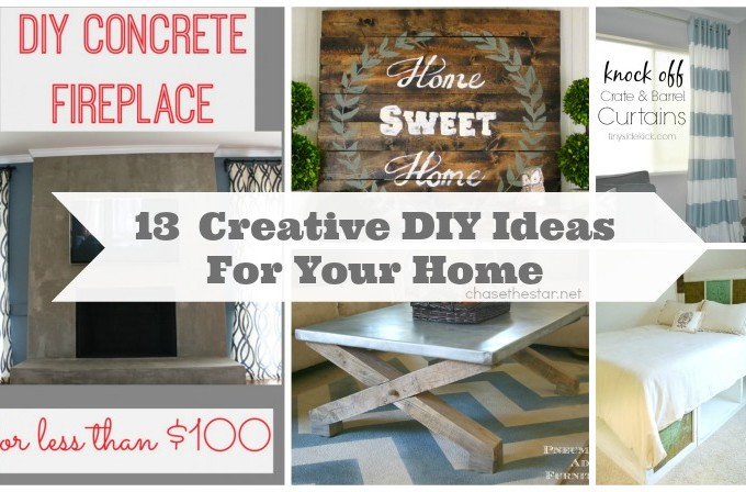 13 Creative DIY Ideas For Your Home