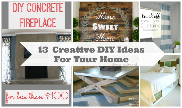 13 Creative DIY Ideas For Your Home via Chase the Star