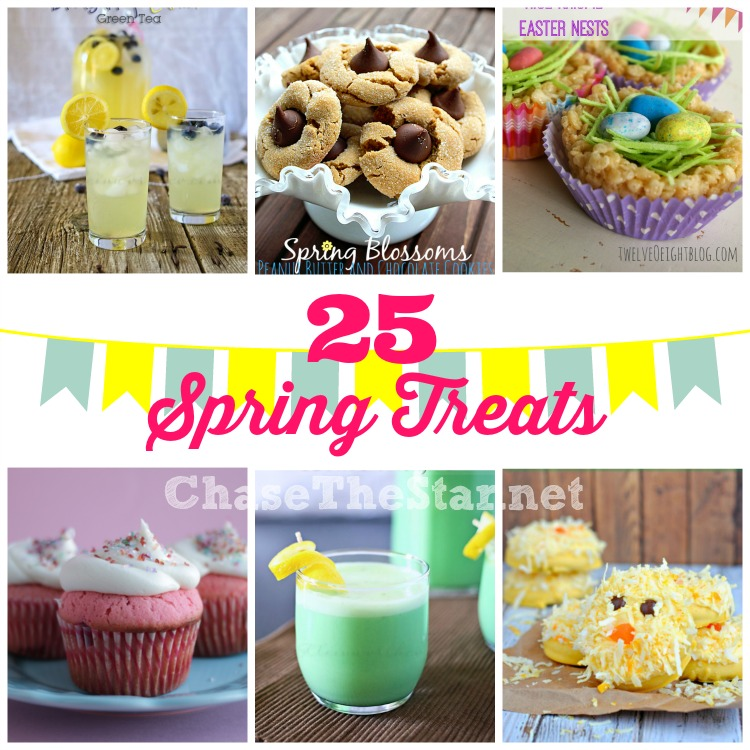 25 #Spring Treats via Chase the Star #treats #dessert #yummy #recipe #drinks #refreshing
