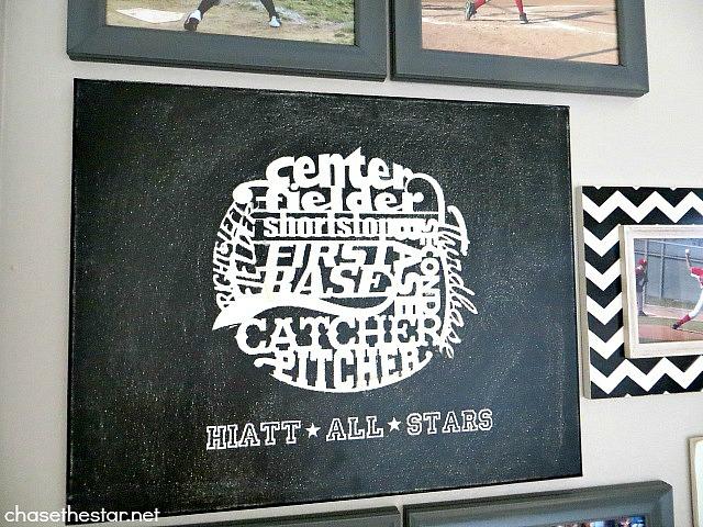 Baseball Wall Art #kids #baseball #CricutExplore #cuttingmachine