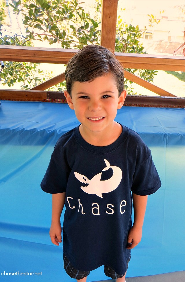 Chases Birthday2 @OfficialCricut #IronOn #DIY Birthday TShirt