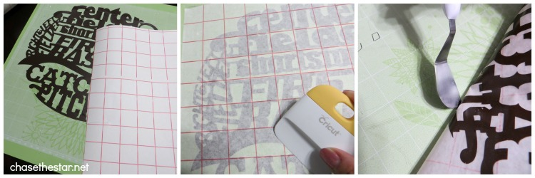 Cricut Explore Using Transfer Paper on Vinyl @OfficialCricut via Chase the Star