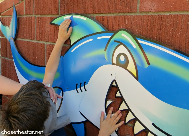 DIY Pin the Fin on the Shark Game