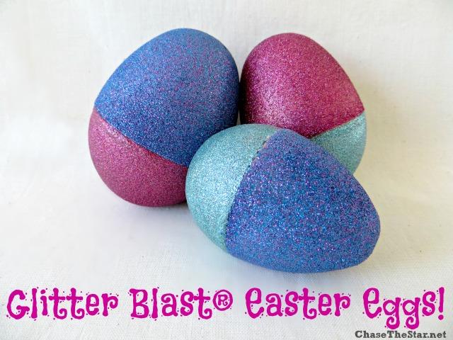 Glitter Blast Easter Eggs