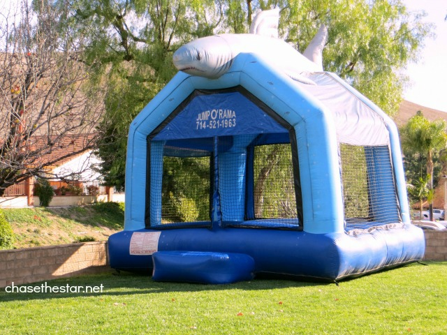Jump O Rama #BounceHouse via Chase the Star #kidsparty #Sharkparty #birthday