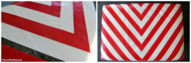 Chevron Pattern With Duct Tape! Cover Your Old Worn Leather Furniture! Via  Chase The