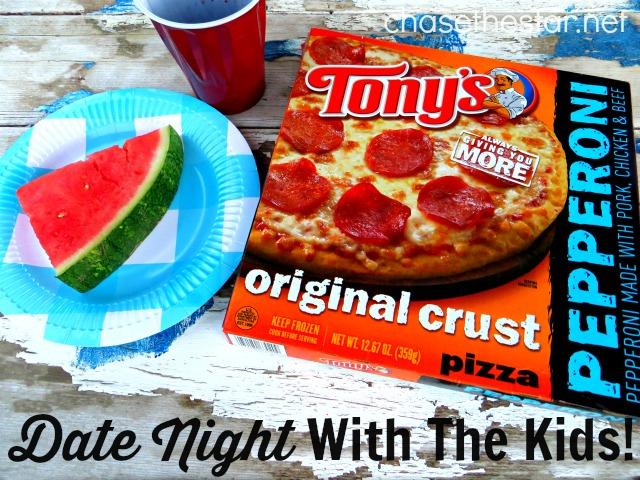 Date Night With the Kids and Tony's Pizza via Chase the Star #tonyspizzeria #ad #PMedia #pizza #kids #momofboys #familynight #Walmart