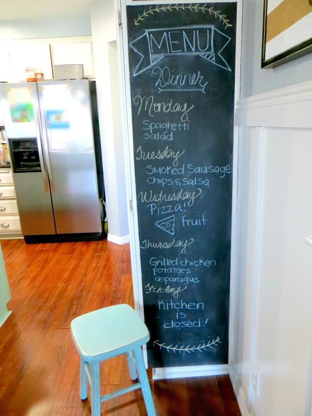 Kitchen Chalkboard via Chase the Star
