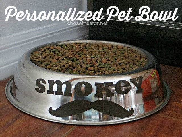 Personalized Pet Bowl via Chase the Star #GoodLifePet #pet #diycraft