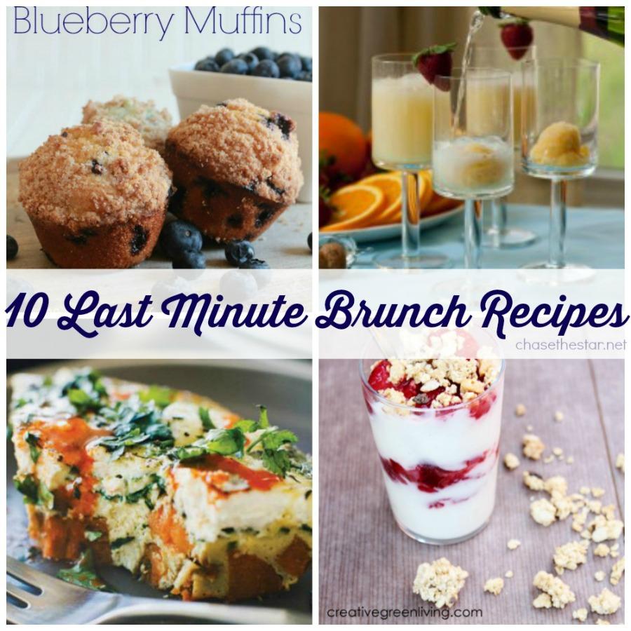 10 Last Minute Brunch Recipes via Chase the Star #mothersday #brunch #breakfast