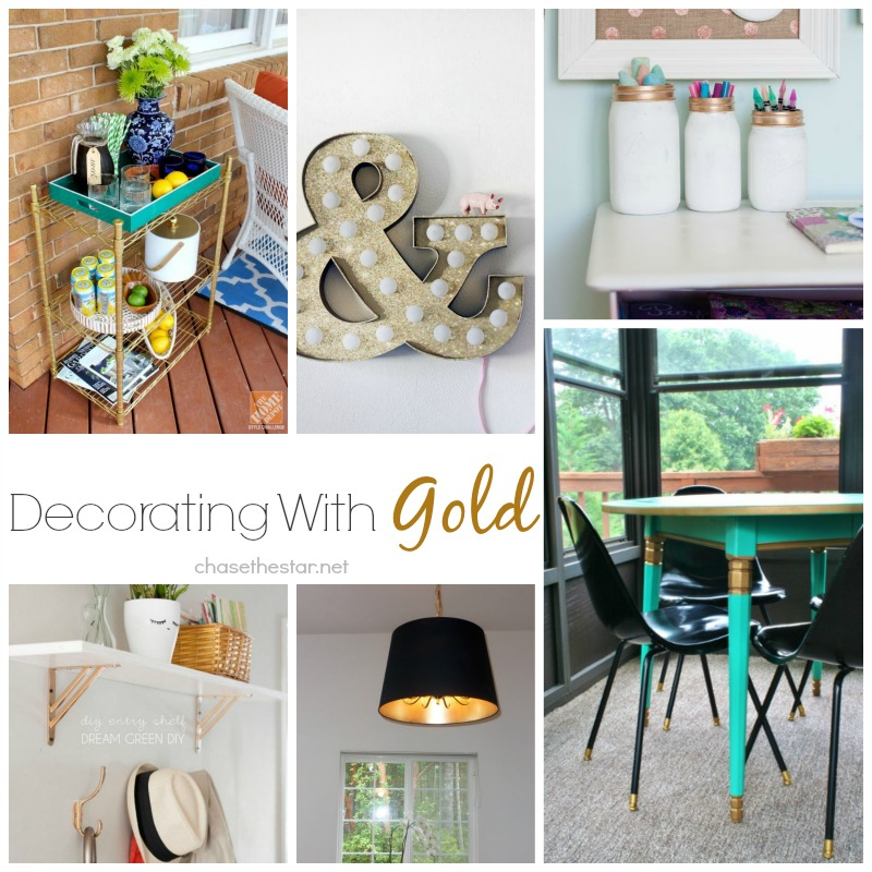 Decorating with Gold via Chase the Star