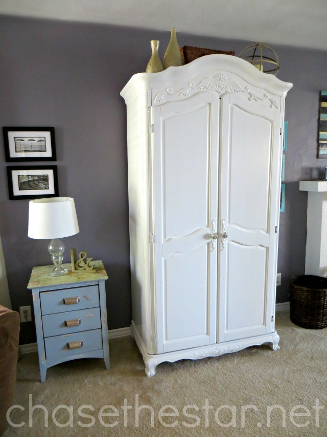 Freshly painted armoire via Chase the Star #paintedfurniture