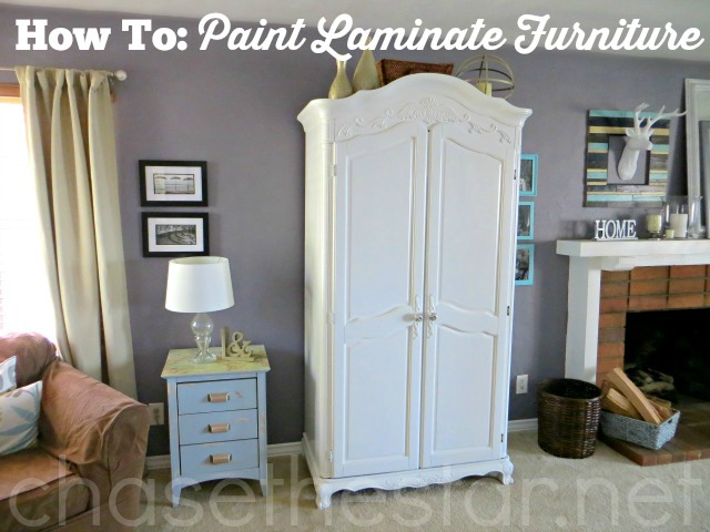 how to paint laminate furniture. Black Bedroom Furniture Sets. Home Design Ideas