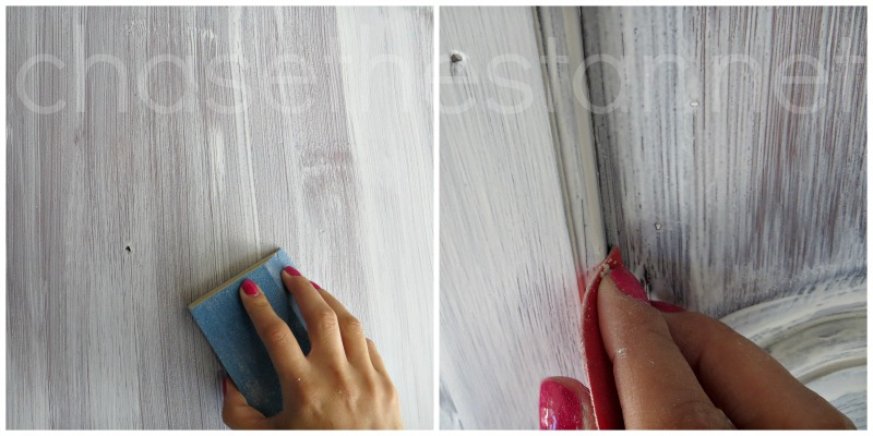 Sand in between coats of primer for smooth results via Chase the Star