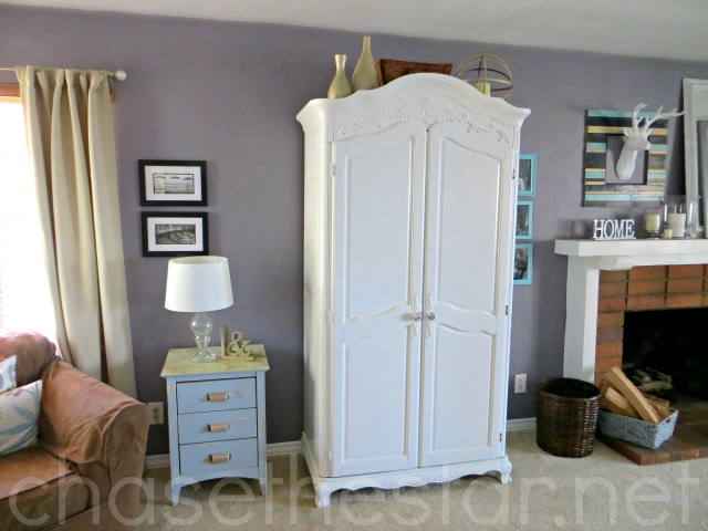 Updated Partly Laminate Armoire via Chase the Star @KilzBrand #sponsored #DIY #furniture