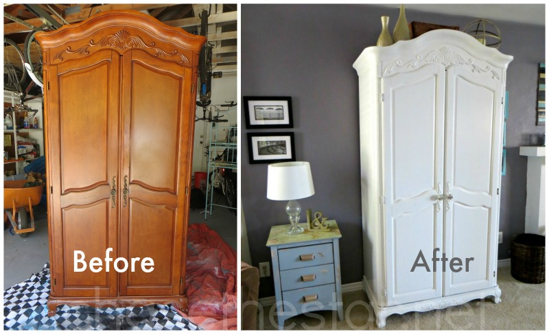 Updated Second Hand Armoire via Chase the Star #DIY #primer