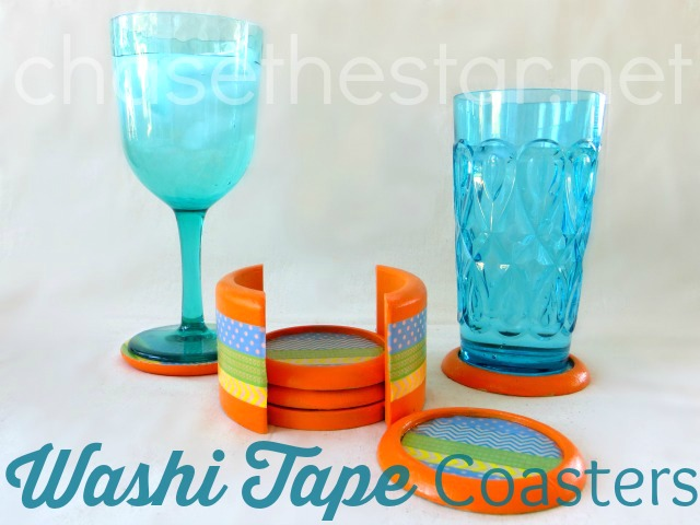 Washi Tape Coasters via Chase the Star