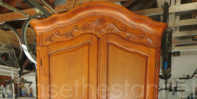 armoire detail before