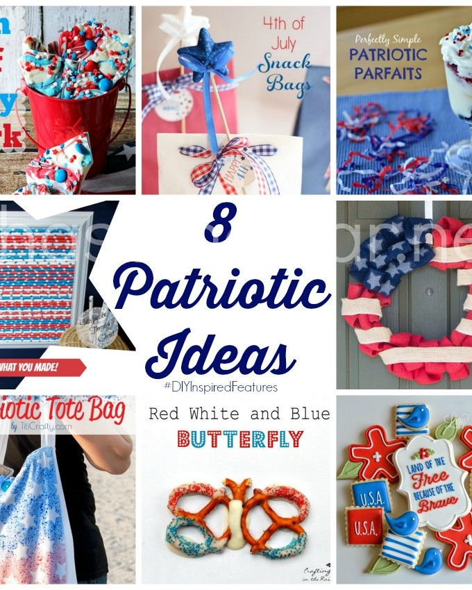 8 Patriotic Ideas via Chase the Star #DIYInspiredFeatures #4thofJuly #crafts #DIY