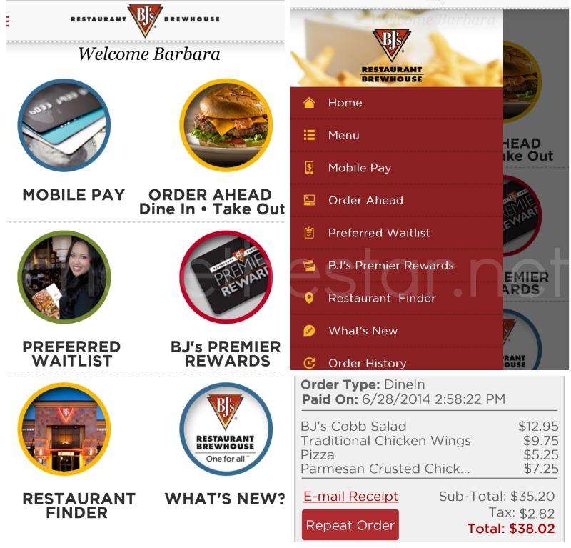 BJ's new mobile app #DineInOrderAhead #PMedia #ad @bjsrestaurants