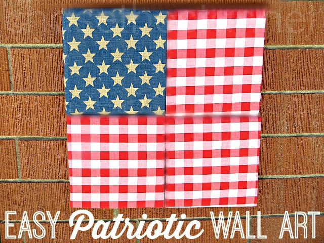 Easy #Patriotic Wall Art  Foamology via Chase the Star #USA #4thofJuly #Flag #fabricArt