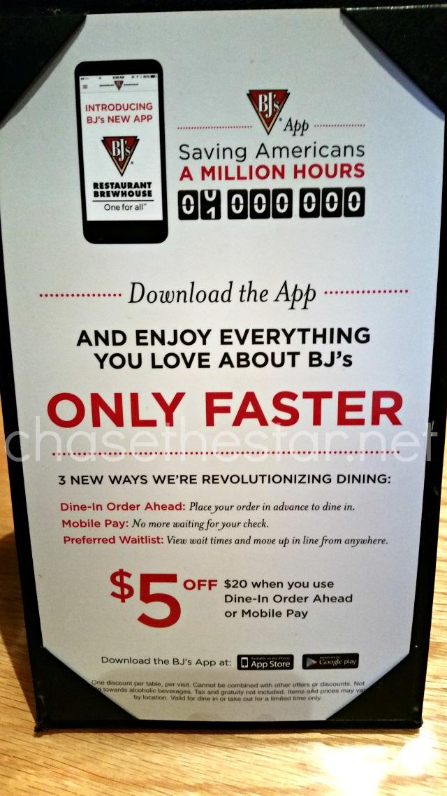 Great new app at #BJsRestaurant! Saves loads of time!#DineInOrderAhead #PMedia #ad @bjsrestaurants