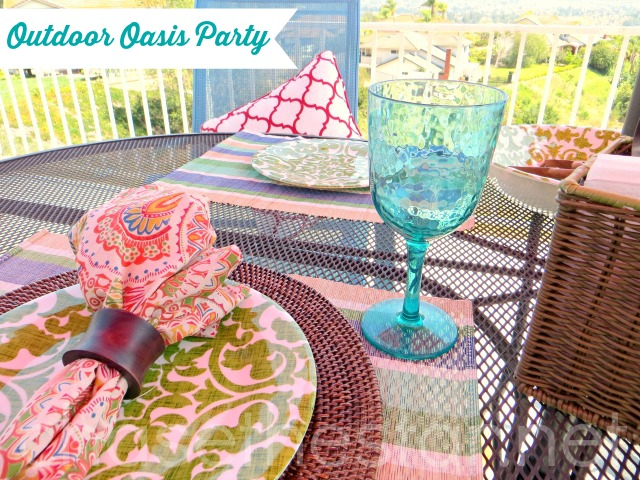 Plan a beautiful Outdoor Party with Pier 1 #pier1outdoorparty #MC #sponsored