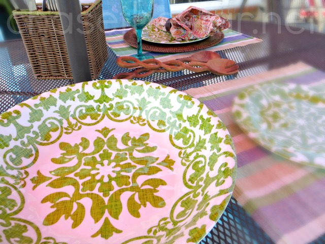 Pretty outdoor plates at Pier1! #Pier1OutdoorParty #MC #Sponsored