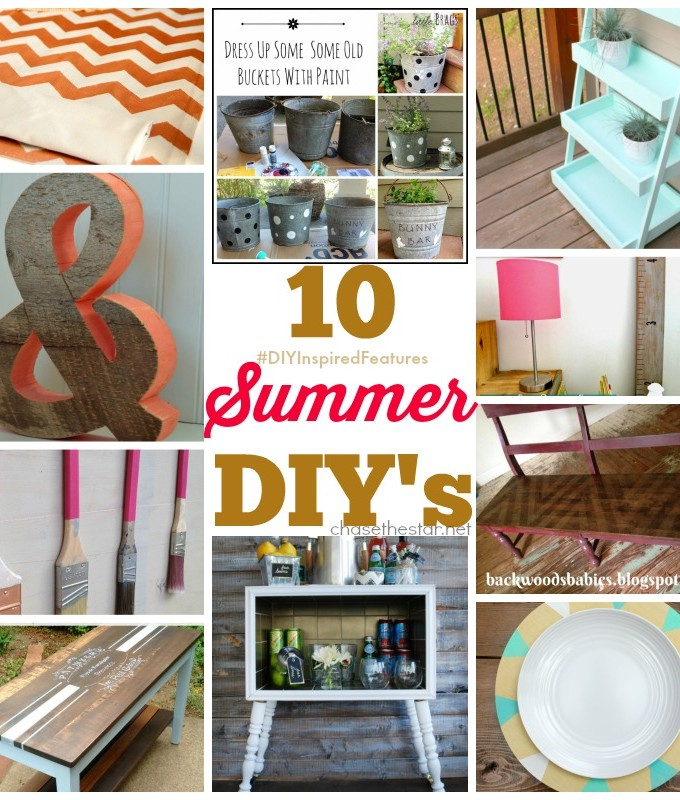 10 Summer DIY's #DIYInspiredFeatures via Chase the Star