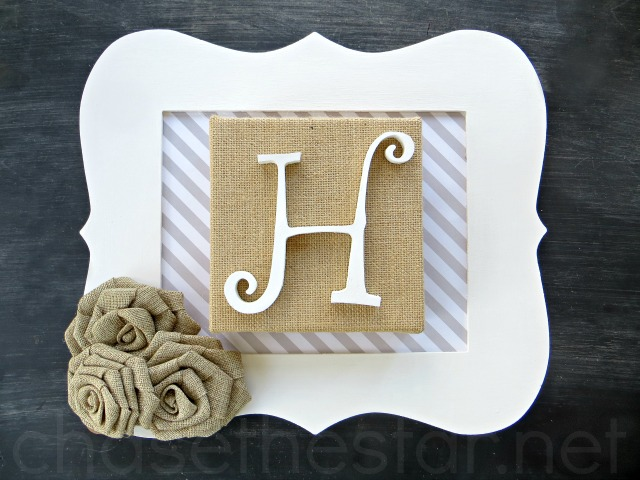 Easy to make Monogram Craft via Chase the Star #MichaelsMakers @michaelsStores
