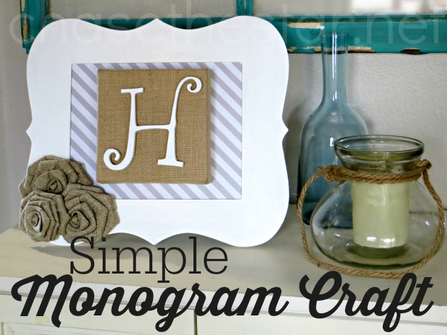 Simple Monogram Craft via Chase the Star #MichaelsMakers @MichaelsStores