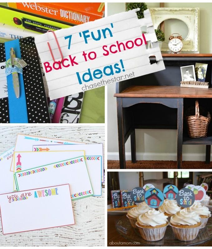 7 Fun Back to School Ideas #backtoschool #crafts #kids via Chasethestar.net