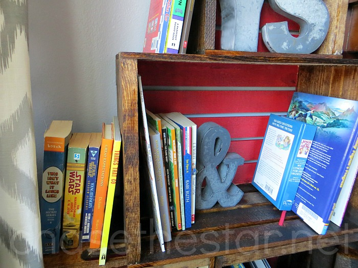 DIY Wood Crate Bookcase for Back to School! #MichaelsMakers