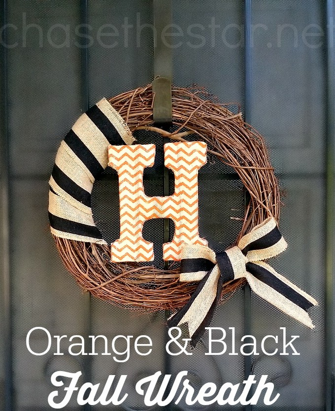Orange and Black Fall Wreath