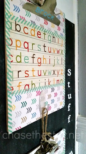 Easy DIY Organize Your Kid's School Paperwork via Chase the Star #BackToSchool #HomeCommandCenter