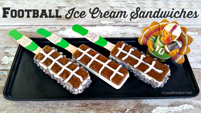 It's time for Friday night football! Serve up these Football Ice Cream Sandwiches, a guaranteed touchdown! #football #Dessert #craft #fridaynightlights