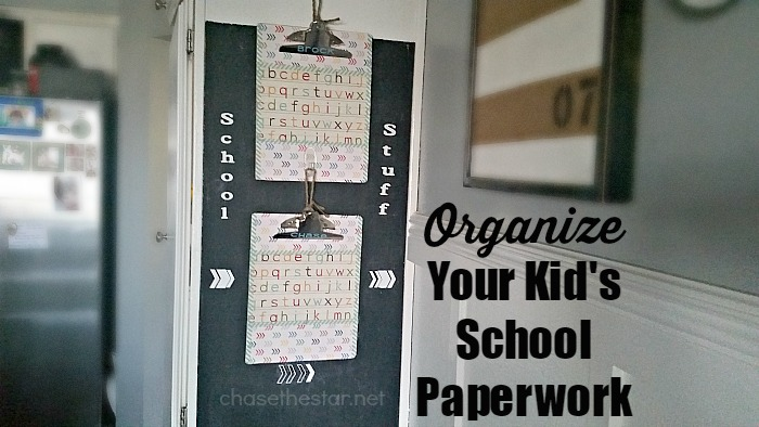Organize Your Kid's School Paperwork via Chase the Star #BackToSchool #HomeCommandCenter