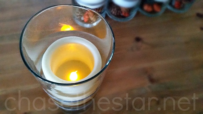 Use Electric Candles for Fall Decor @MichaelsStores #michaelsMakers
