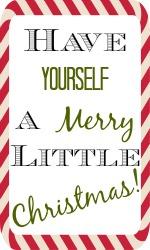 Christmas Gift Tag free printable via Chase the Star