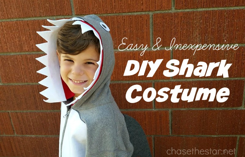Easy and Inexpensive DIY Shark Costume #MichaelsMakers #DIYCostume #halloween #shark