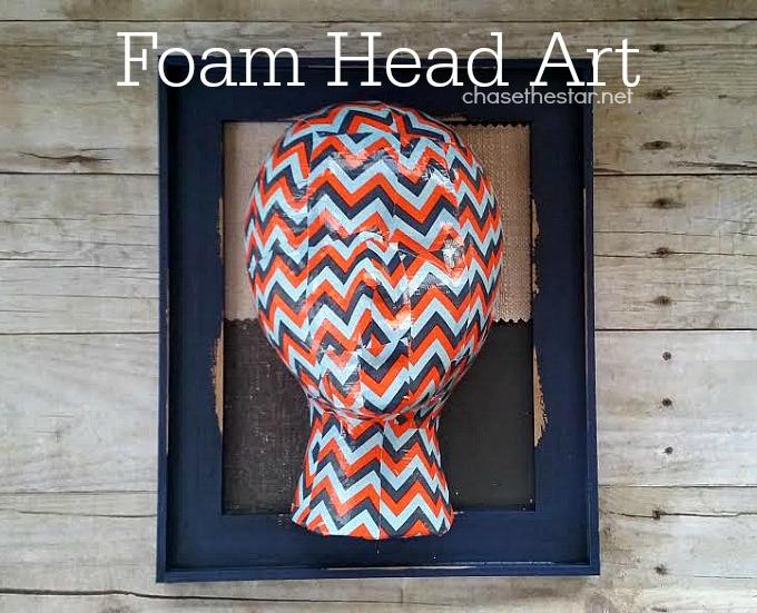 Foam Head Art via Chase the Star#MakeitFunCrafts