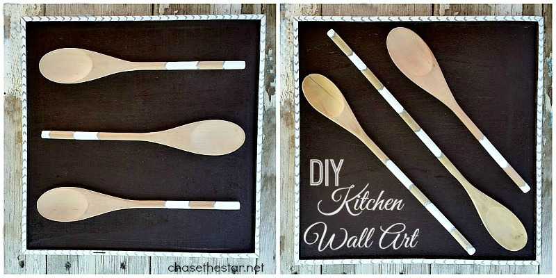 Repurposed Wooden Spoons into Kitchen Wall Art via Chase the Star