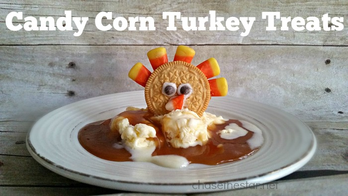 The perfect treat for kids this Thanksgiving, #CandyCorn Turkey Treats!