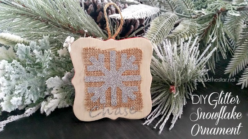 DIY Glitter Snowflake Ornament via Chase the Star