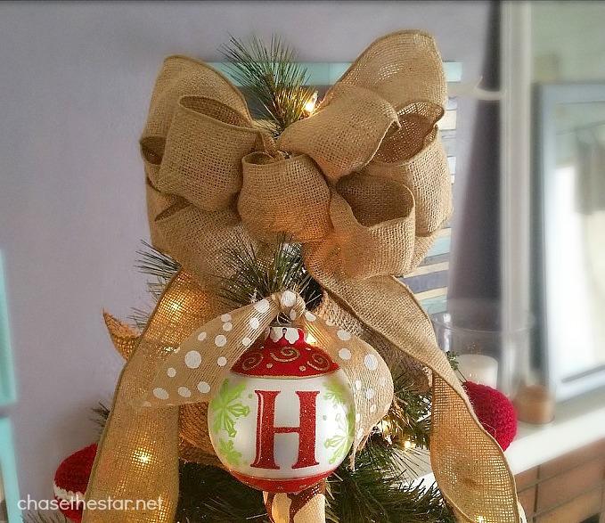 Easy Christmas Tree topper.  #michaelsmakers