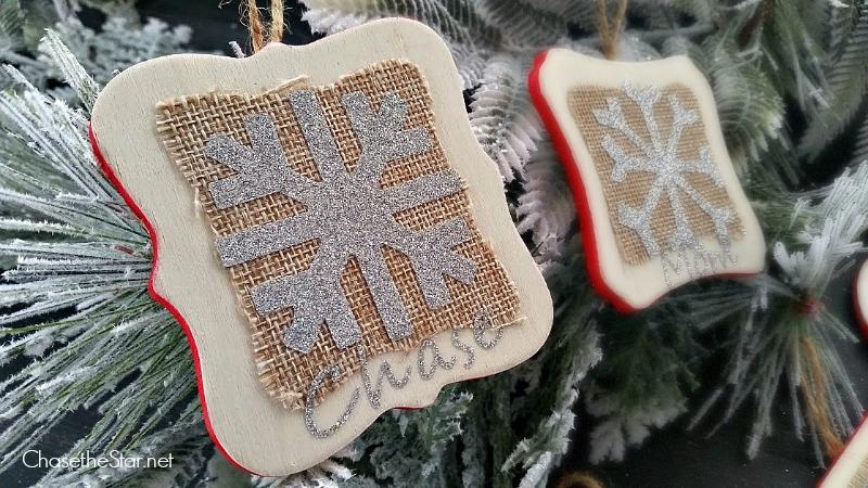 Easy DIY Ornaments with Iron On Glitter! #Cricut