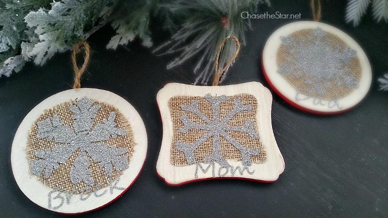 Glitter Snowflake Ornaments #christmas #holiday