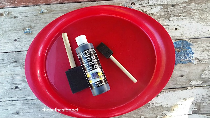 Painted chalkboard platter via Chase the Star